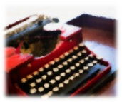 blurry typewriter
